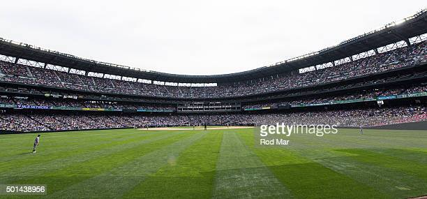 A general view of Safeco Field for the game between the Seattle Mariners and the Oakland Athletics on Sunday May 10 2015 in Seattle Washington