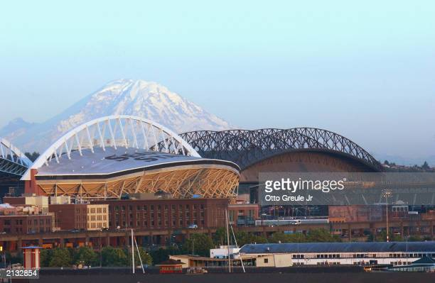 A general view of Safeco Field home of the Seattle Mariners on June 25 2003 in Seattle Washington