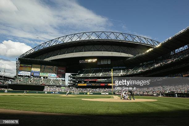 A general view of Safeco Field is shown during the Seattle Mariners game against the Detroit Tigers on July 15 2007 at Safeco Field in Seattle...