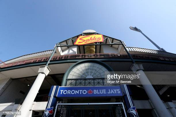 General view of Sahlen Field before a game between the Miami Marlins and Toronto Blue Jays on August 11, 2020 in Buffalo, New York. The Blue Jays are...