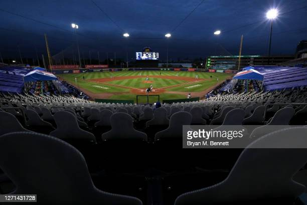 General view of Sahlen Field during a game between the Toronto Blue Jays and the New York Yankees on September 08, 2020 in Buffalo, New York. The...