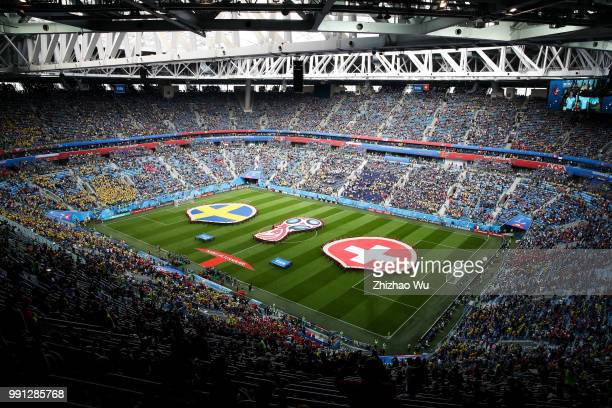 General view of Saint Petersburg Stadium during the 2018 FIFA World Cup Russia Round of 16 match between 1st Group F and 2nd Group E at Saint...
