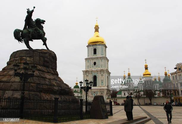 General view of Saint Sophia Cathedral on November 10 2011 in Kiev Ukraine Kiev is the capital and the largest city of Ukraine The 2012 UEFA European...