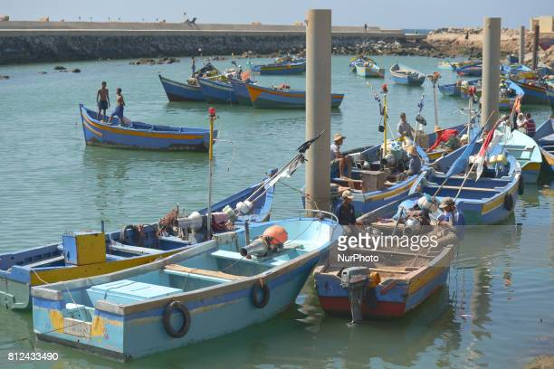A general view of Sale's fishing harbour On Friday June 30 in Rabat Morocco