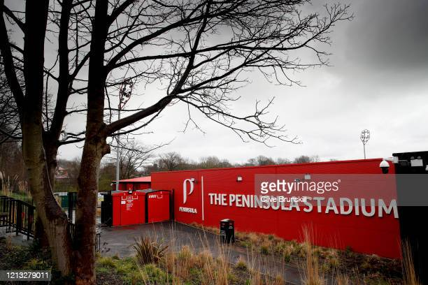 General view of Salford City's Peninsula stadium, home of Salford City at Moor Lane on March 18, 2020 in Salford, England.