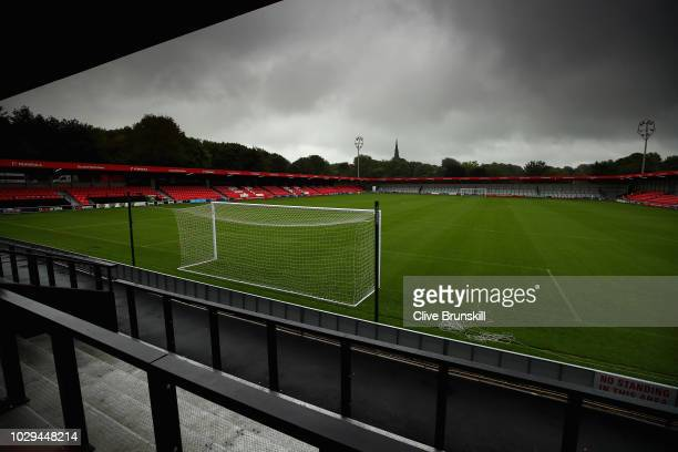A general view of Salford City's Peninsula stadium prior to the Vanarama National League match between Salford City and Maidstone United at Moor Lane...