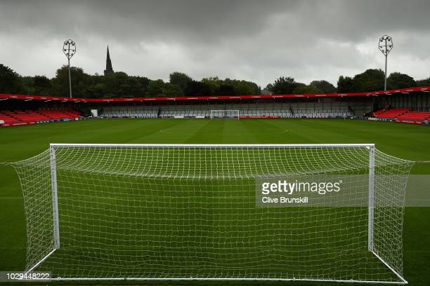 General view of Salford City's Peninsula stadium prior to the Vanarama National League match between Salford City and Maidstone United at Moor Lane...