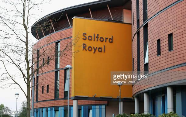 A general view of Salford Royal Hospital where Sir Alex Ferguson is recovering after undergoing emergency surgery for a brain haemorrhage on May 5...