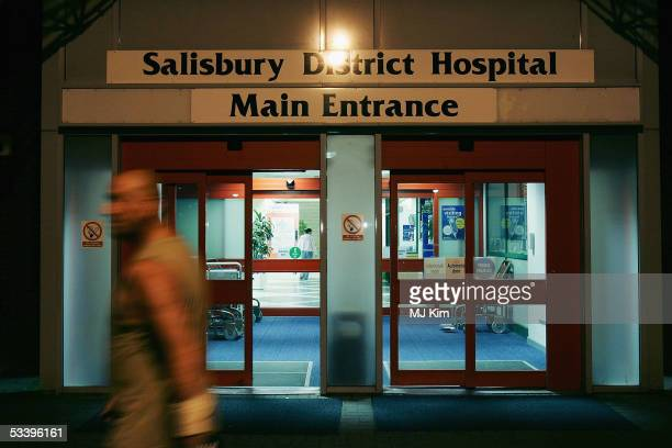 A general view of Salibury District Hospital following singer Madonna's admittance due to injuries sustained whilst horse riding August 16 in...