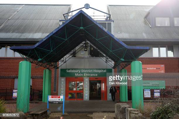 A general view of Salisbury District Hospital after Sergei Skripal 66 and his duaghter Yulia Skripal in her 30s were found unconscious in Salisbury...
