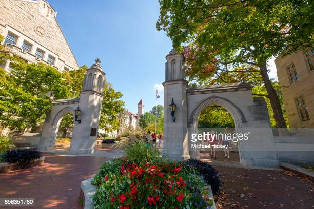 General view of Sample Gates on the campus of Indiana University are seen before the game against the Georgia Southern Eagles at Memorial Stadium on...