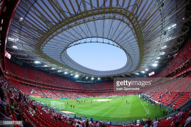 General view of San James Stadium during the La Liga match between Athletic Club and Real Madrid Club de Futbol at San Mames stadium on September 15...