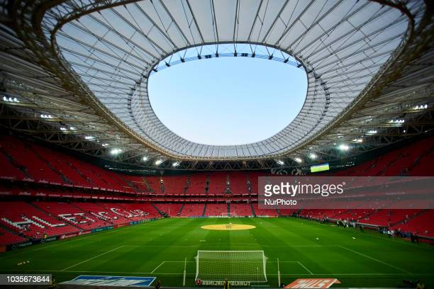 General view of San Mames Stadium during the match between Athletic Club against Real Madrid at San Mames Stadium in Bilbao Spain on September 15 2018