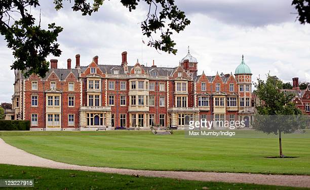 General view of Sandringham House Queen Elizabeth II's country retreat set in 24 hectares of gardens on the Sandringham Estate at Sandringham on...