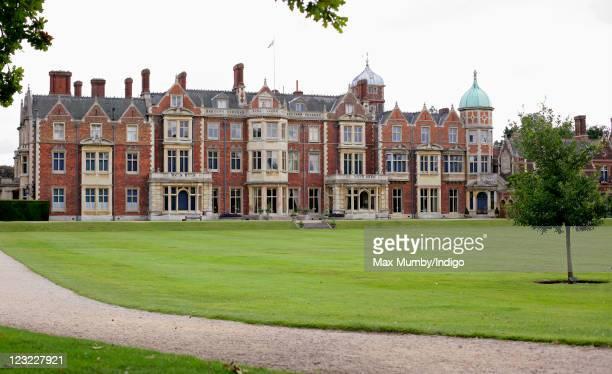 General view of Sandringham House, Queen Elizabeth II's country retreat set in 24 hectares of gardens on the Sandringham Estate, at Sandringham on...