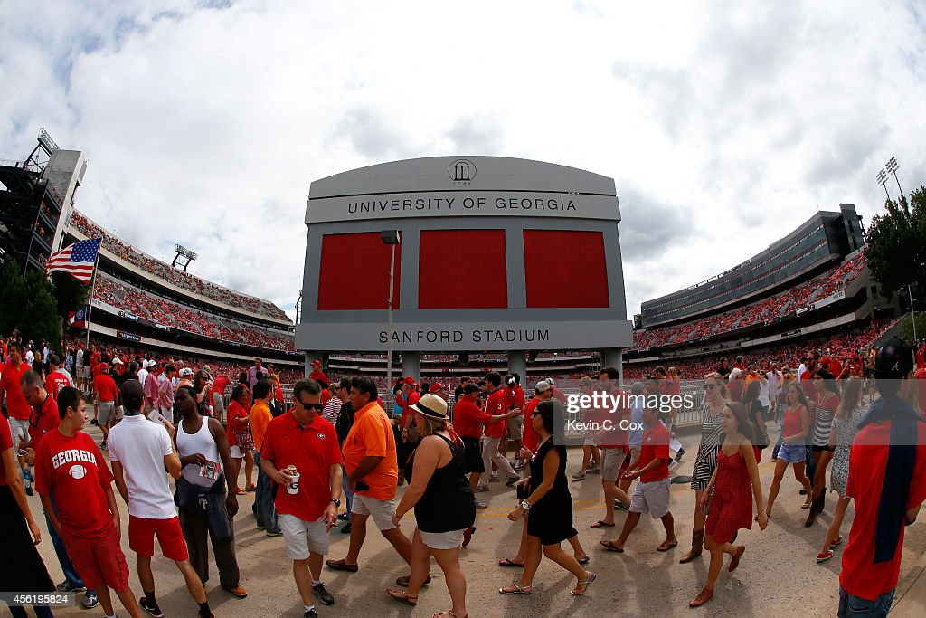 A general view of Sanford Stadium prior to the game between the Georgia Bulldogs and the Tennessee Volunteers on September 27, 2014 in Athens, Georgia.