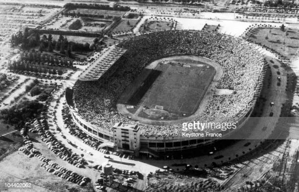 A general view of Santiago national stadium in Chile where certain matches of the soccer World Cup took place in June 1962 notably the finals
