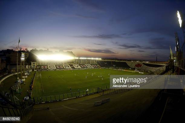 A general view of Sao Januario stadium during the match between Vasco da Gama and Gremio the stadium is closed for fans due to problems of violence...
