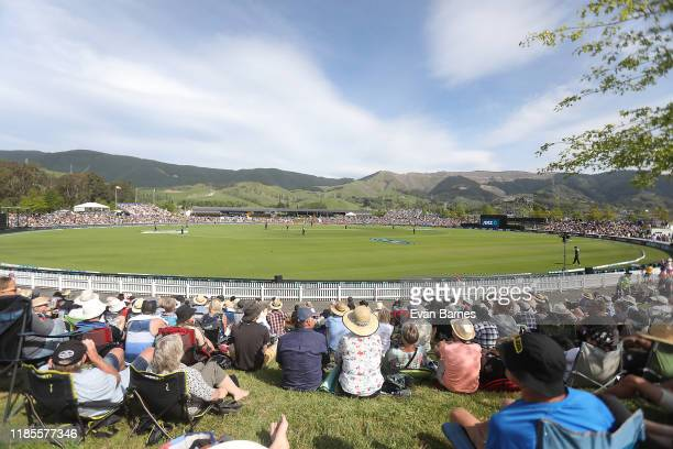 General view of Saxton Oval during game three of the Twenty20 International series between New Zealand and England at Saxton Field on November 05,...