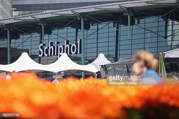 A general view of Schipol Airport on July 18 2014 in Amsterdam Netherlands Malaysia Airlines flight MH17 travelling from Amsterdam to Kuala Lumpur...