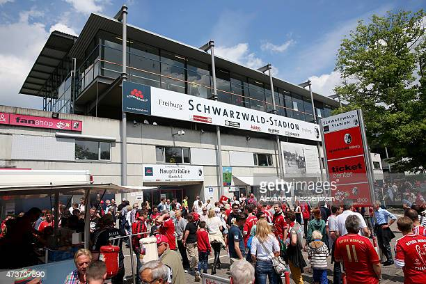 General view of SchwarzwaldStadion during the Bundesliga match between Sport Club Freiburg and FC Bayern Muenchen at SchwarzwaldStadion on May 16...