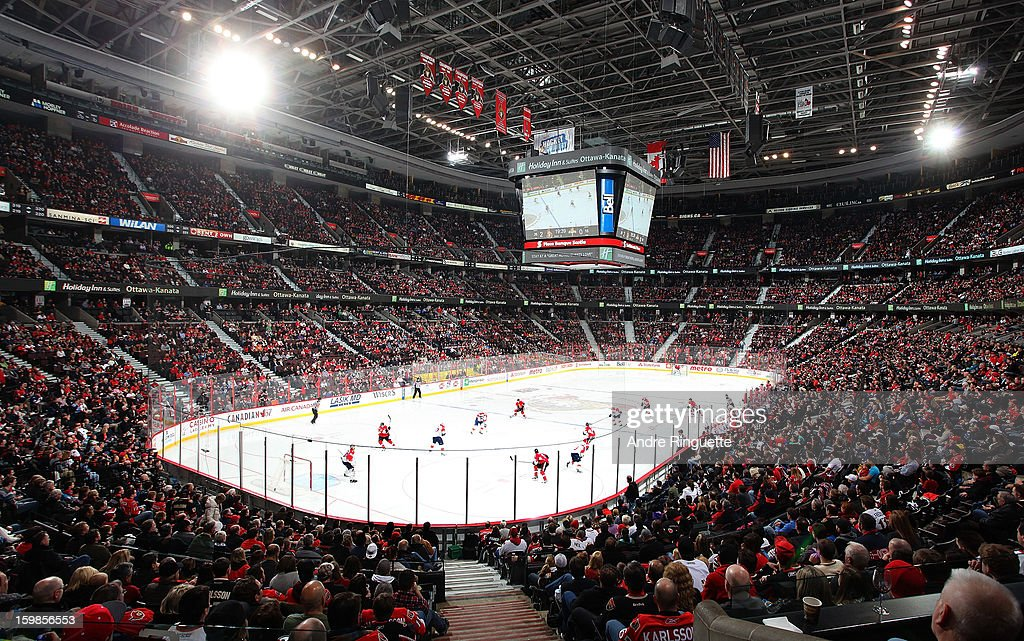 A general view of Scotiabank Place with a sold out crowd during the home opener between the Ottawa Senators against the Florida Panthers on January 21, 2013 in Ottawa, Ontario, Canada.