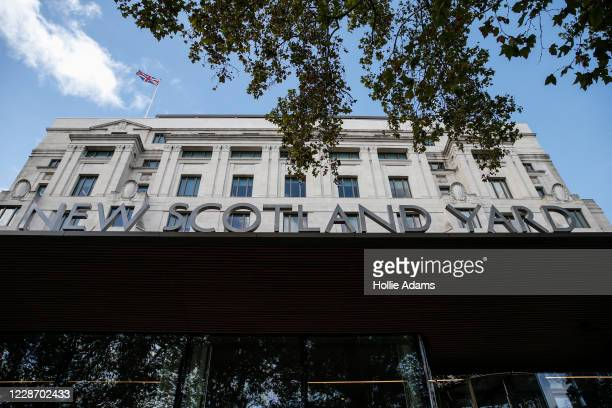 General view of Scotland Yard on September 25, 2020 in London, England. A murder investigation has been launched following the death of a police...
