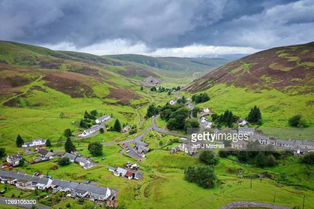 A general view of Scotland's Highest Village on August 27 2020 in Wanlockhead Scotland Following 4 years of negotiations Wanlockhead Community Trust...