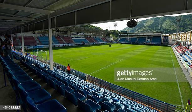 General view of SD Eibar Estadio Ipurua before the La Liga match between SD Eibar and Real Sociedad at Ipurua Municipal Stadium on August 24, 2014 in...