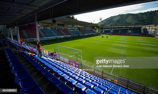 General view of SD Eibar Estadio Ipurua before the La Liga match between SD Eibar and Real Sociedad at Ipurua Municipal Stadium on August 24, 2014 in...