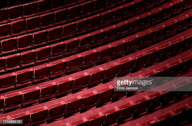 General view of seating in a deserted Coliseum theatre on June 11, 2020 in London, England. The London Coliseum, the largest theatre in London's West...