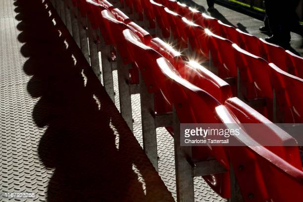 General View of seats at Moor Lane home of Salford City prior to the Carabao Cup First Round match between Salford City and Leeds United at Moor Lane...