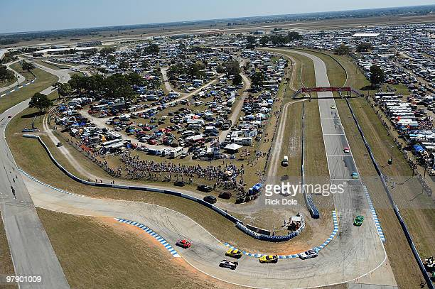 General view of Sebring International Raceway from turn 7, during the opening laps of the ALMS 12 Hours of Sebring at Sebring International Raceway...