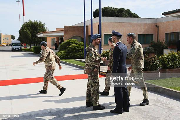 General view of security at Ciampino Airport on April 3 2014 in Ciampino Italy The Queen and the Duke of Edinburgh are on a one day visit to Italy...
