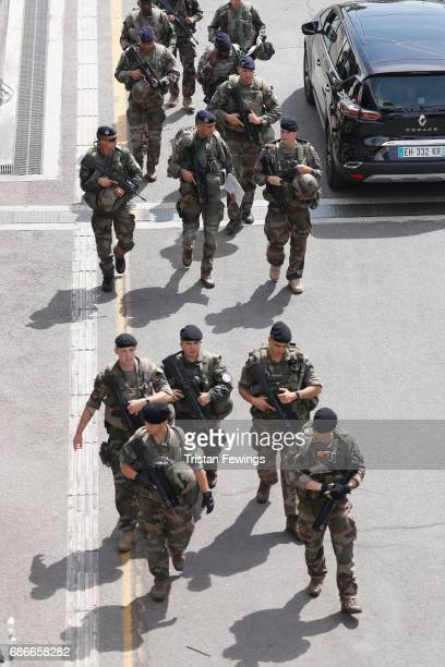 General view of security during the 70th annual Cannes Film Festival at on May 22 2017 in Cannes France