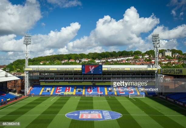 A general view of Selhurst Park home of Crystal Palace before the Premier League match between Crystal Palace and Hull City at Selhurst Park on May...