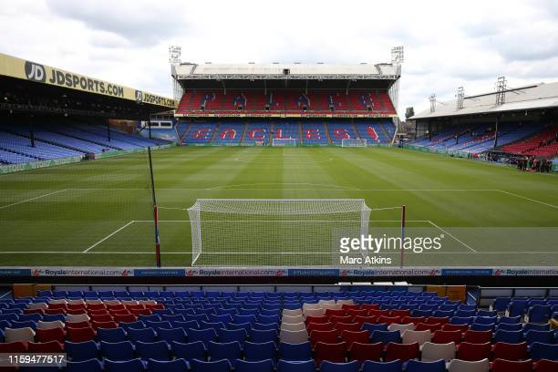 General view of Selhurst Park prior to the Pre-Season Friendly match between Crystal Palace and Hertha BSC Berlin at Selhurst Park on August 3, 2019...