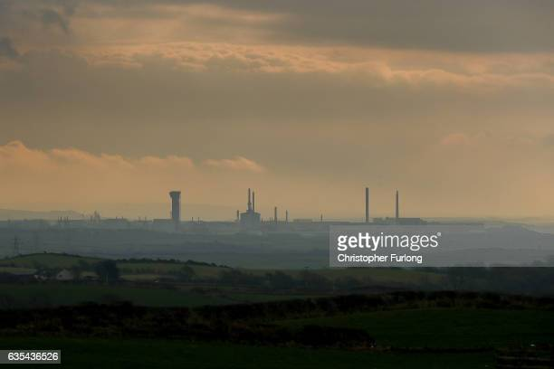 A general view of Sellafield Nuclear Power Station a main employer of people voting in the Copeland byelection on February 15 2017 in Whitehaven...