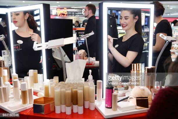General view of Sephora loves Fenty Beauty by Rihanna store event on April 5 2018 in Milan Italy