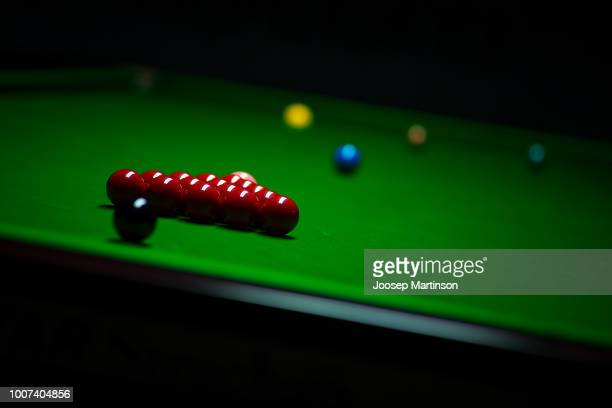 A general view of set up during 2018 Kaspersky Riga Masters the annual professional ranking snooker tournament sponsored by Kaspersly Lab as part of...