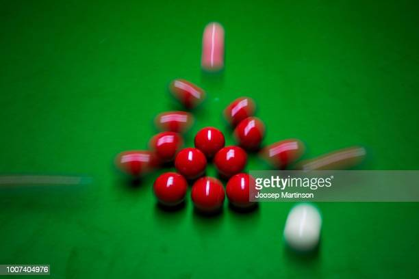General view of set up during 2018 Kaspersky Riga Masters, the annual professional ranking snooker tournament sponsored by Kaspersly Lab, as part of...