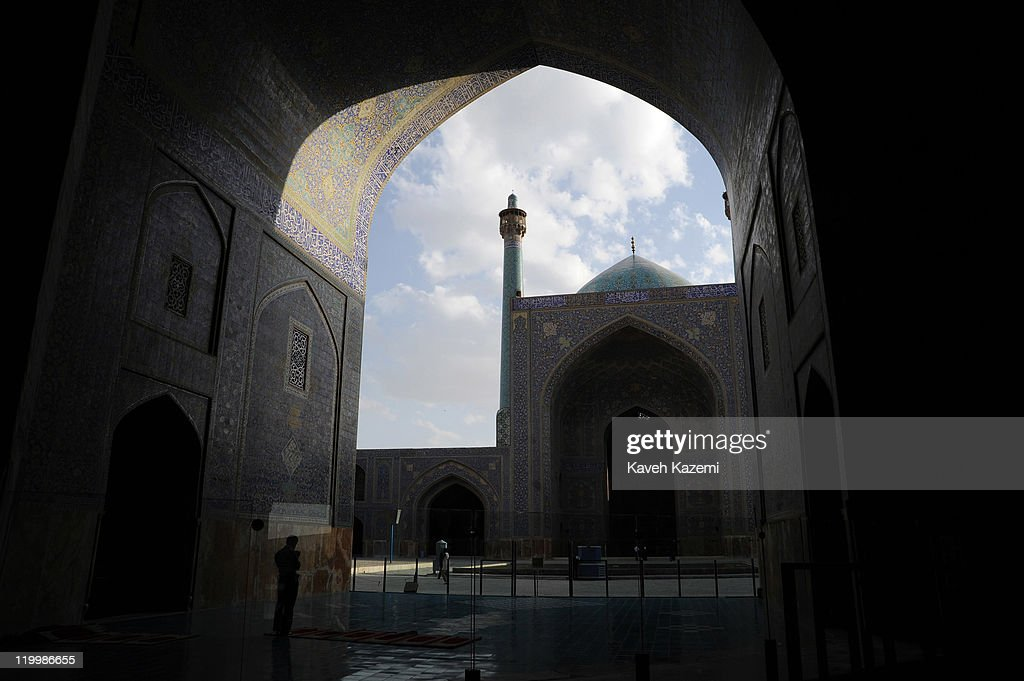 General view of Shah Mosque situated on the south corner of