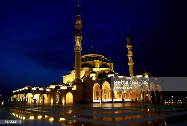 General view of Sharjah Mosque on April 13, 2021 in Sharjah, United Arab Emirates. Muslim men and women across the world observe Ramadan, a month...