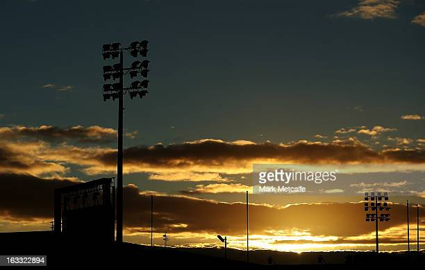 General view of Shark Park as sun sets on March 8, 2013 in Sydney, Australia. The Sharks have stood down their coach Shane Flanagan, and sacked...