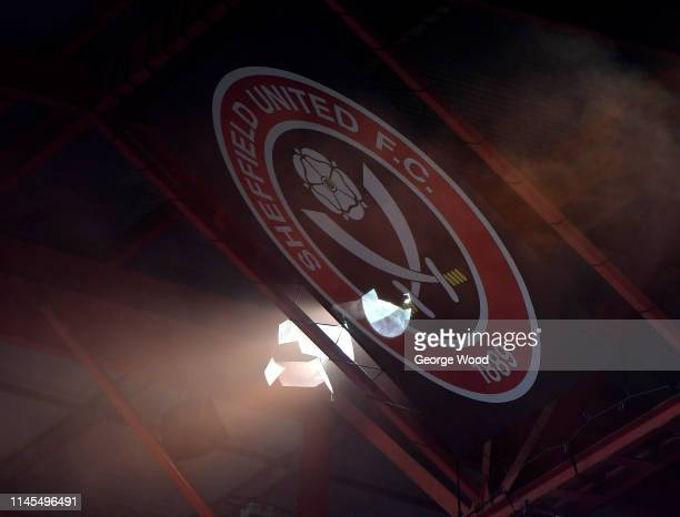 General View of Sheffield United logo in the stands of Bramall Lane during the Sky Bet Championship match between Sheffield United and Ipswich Town...