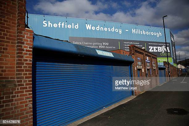 A general view of Sheffield Wednesday's Hillsborough stadium on April 26 2016 in Sheffield England The fresh inquests into the 1989 Hillsborough...