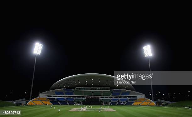 A general view of Sheikh Zayed stadium during day two of the Champion County match between Marylebone Cricket Club and Durham at Sheikh Zayed stadium...