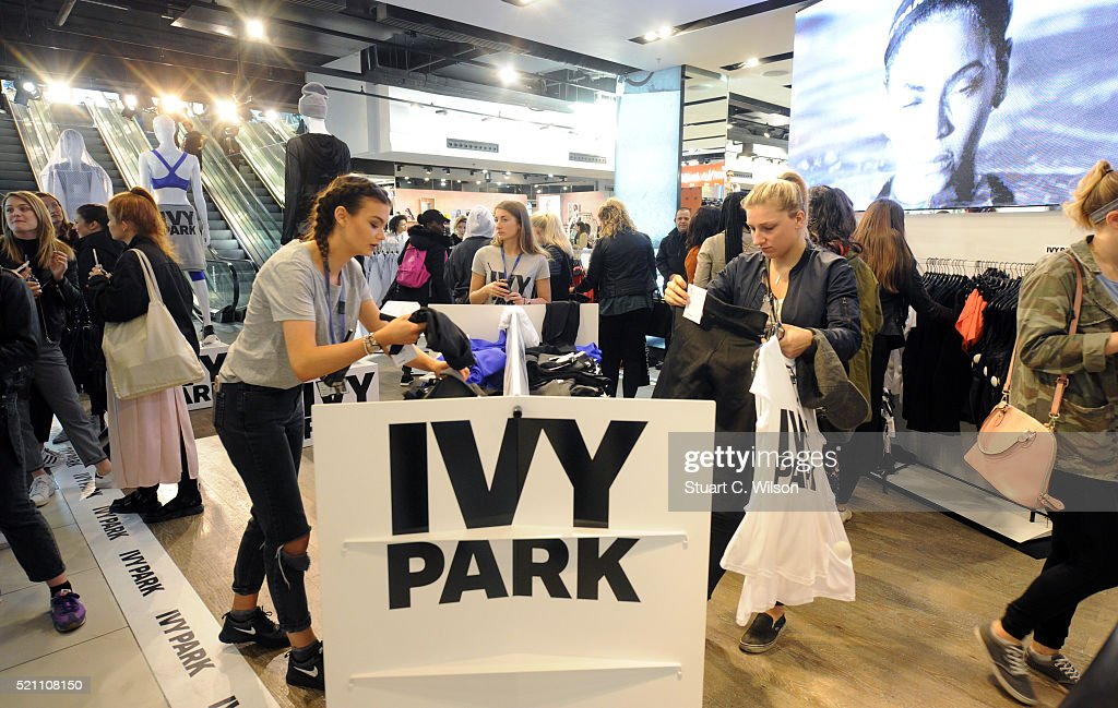 General view of shoppers as Beyonce's Ivy Park collection goes on sale at TopShop on April 14, 2016 in London, England.