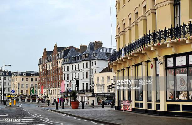 A general view of shops along the seafront on August 2 2011 in Margate England The east Kent seaside town of Margate is currently undergoing...