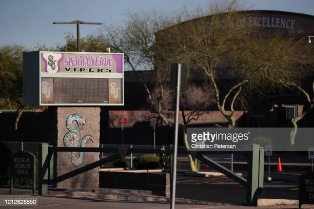 General view of Sierra Verde Elementary School on March 15 2020 in Glendale Arizona Gov Doug Ducey and Arizona Superintendent of Public Instruction...